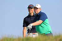 Nordin Van Tilburg (NED) and Caolan Rafferty (Dundalk) on the 11th tee during Round 4 of the Lytham Trophy held at Royal Lytham &amp; St. Annes Golf Club on Sunday 6th May 2018.<br /> Picture:  Thos Caffrey / www.golffile.ie<br /> <br /> All photo usage must carry mandatory copyright credit (&copy; Golffile | Thos Caffrey)