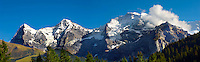 Swiss Alps from Murren  - Left to right, The Eiger, Monch, Jungfrau