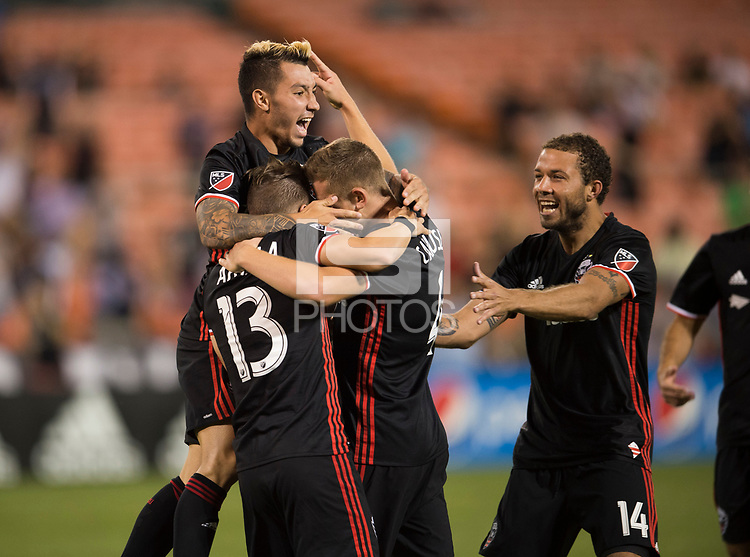 Washington, D.C. - August 23, 2017: D.C. United defeated Atlanta United FC 1-0 during a Major League Soccer (MLS) match at RFK Stadium.