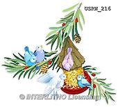 Randy, CHRISTMAS SYMBOLS, WEIHNACHTEN SYMBOLE, NAVIDAD SÍMBOLOS, paintings+++++Wintering-Birds-Snacks-silhouette,USRW216,#xx#