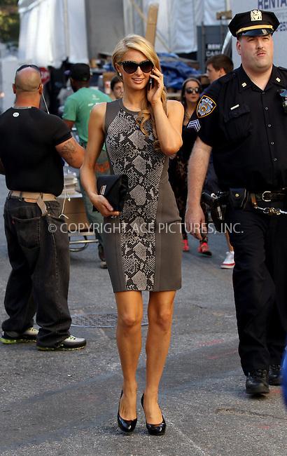 WWW.ACEPIXS.COM<br /> <br /> September 8 2013, New York City<br /> <br /> Paris Hilton arriving at Mercedes-Benz New York Fashion Week on September 8 2013 in New York City<br /> <br /> By Line: Zelig Shaul/ACE Pictures<br /> <br /> <br /> ACE Pictures, Inc.<br /> tel: 646 769 0430<br /> Email: info@acepixs.com<br /> www.acepixs.com