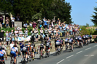 Picture by SWpix.com - 05/05/2018 - Cycling - 2018 Tour de Yorkshire - Stage 3: Richmond to Scarborough - The peloton passes fans