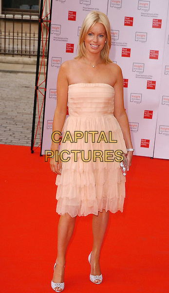 CAROLINE STANBURY.The 2006 Summer Exhibition Preview Party at the Royal Academy in Piccadilly, London, UK..June 7th, 2006 .Ref: CAV.full length pink dress strapless ruffles.www.capitalpictures.com.sales@capitalpictures.com.© Capital Pictures.