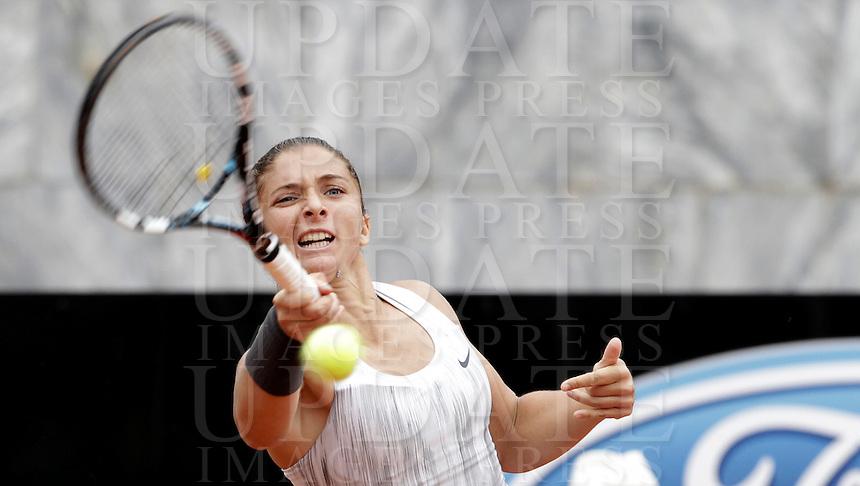 L'italiana Sara Errani in azione durante gli Internazionali d'Italia di tennis a Roma, 15 Maggio 2013..Italy's Sara Errani in action during the Italian Open Tennis WTA tournament in Rome, 15 May 2013.UPDATE IMAGES PRESS/Isabella Bonotto