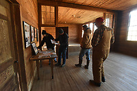 NWA Democrat-Gazette/FLIP PUTTHOFF <br /> A tour of the Union School building Dec. 21 2018 during a lunch was a highlight of a 45-mile off-road trip through the Johnson County back country and the Ozark National Forest.