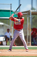 GCL Cardinals first baseman Stefan Trosclair (51) at bat during the second game of a doubleheader against the GCL Marlins on August 13, 2016 at Roger Dean Complex in Jupiter, Florida.  GCL Cardinals defeated GCL Marlins 2-0.  (Mike Janes/Four Seam Images)