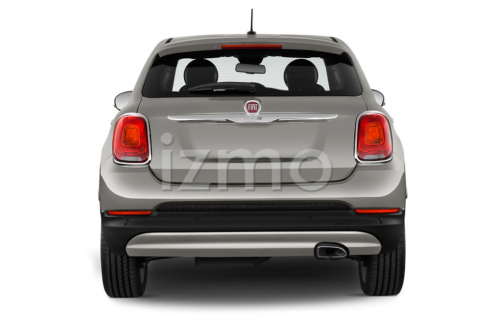 Straight rear view of 2017 Fiat 500X Lounge 5 Door SUV Rear View  stock images