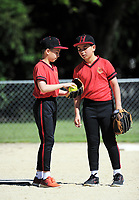 Action from the softball match between Hadlow School and Huntley School at South Park in Masterton, New Zealand on Thursday, 19 October 2017. Photo: Dave Lintott / lintottphoto.co.nz