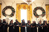Washington, DC - December 14, 2009 -- Members of the Urban Nation H.I.P. H.O.P. Choir perform during a holiday party in the East Room of the White House, Monday, December 14, 2009..Mandatory Credit: Lawrence Jackson - White House via CNP