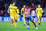 Atletico de Madrid Thomas Teye and Borussia Dortmund Axel Witsel during group stage of UEFA Champions League match between Atletico de Madrid and Borussia Dortmund at Wanda Metropolitano in Madrid, Spain.November 06, 2018. (ALTERPHOTOS/Borja B.Hojas)
