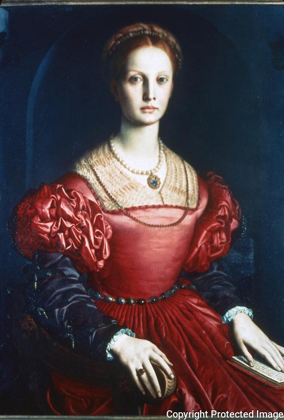 Paintings:  Bronzino--Lucrezia Panciatichi.  Galleria Uffizi, Florence.  Reference only.