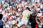 Carlos Henrique Casimiro of Real Madrid and Yangel Herrera of Granada CF during La Liga match between Real Madrid and Granada CF at Santiago Bernabeu Stadium in Madrid, Spain. October 05, 2019. (ALTERPHOTOS/A. Perez Meca)