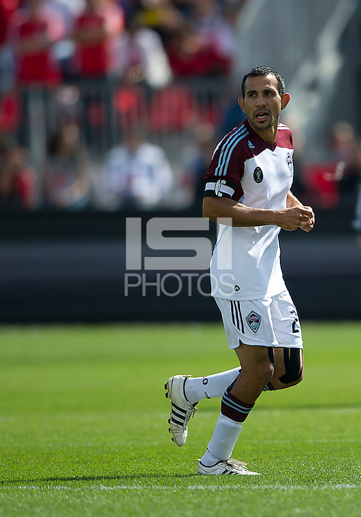 17 September 2011: Colorado Rapids defender/midfielder Pablo Mastroeni #25 in action during an MLS game between the Colorado Rapids and the Toronto FC at BMO Field in Toronto, Ontario Canada..Toronto FC won 2-1.
