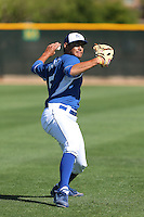 Sean Manaea of the Kansas City Royals works out during spring training at the Kansas Royals Spring Training Complex on March 21, 2014 in Surprise, Arizona. (Larry Goren/Four Seam Images)