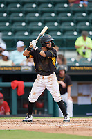 Bradenton Marauders Jesse Medrano (3) at bat during a Florida State League game against the Palm Beach Cardinals on May 10, 2019 at LECOM Park in Bradenton, Florida.  Bradenton defeated Palm Beach 5-1.  (Mike Janes/Four Seam Images)