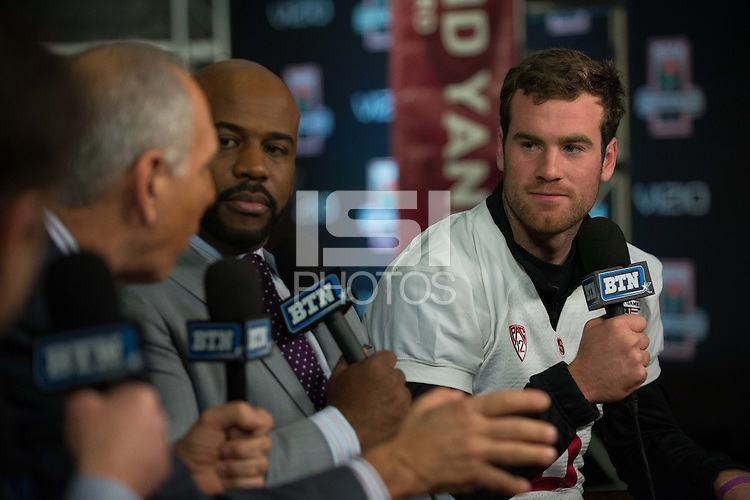 LOS ANGELES, CA  - The Stanford Cardinal participates in team media day at the LA Hotel as it prepares for the 100th Rose Bowl Game in Pasadena.