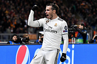 Gareth Bale of Real Madrid celebrates after scoring a goal  during the Uefa Champions League 2018/2019 Group G football match between AS Roma and Real Madrid atOlimpico stadium , Rome, November, 27, 2018 <br />  Foto Andrea Staccioli / Insidefoto