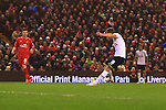 Tottenham's Harry Kane scores his sides first goal - Liverpool vs. Tottenham Hotspurs - Barclay's Premier League - Anfield - Liverpool - 10/02/2015 Pic Philip Oldham/Sportimage