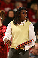 2 December 2007: Stanford Cardinal assistant coach Bobbie Kelsey during Stanford's 62-41 win against the UC Davis Aggies at Maples Pavilion in Stanford, CA.