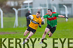 In Action Emmets Ger McCarthy and Beale Barry O'Mahony at the Bernard O'Callaghan Memorial Senior Football Championship final last Saturday Beale V Listowel Emmets