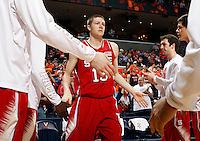 North Carolina State forward Scott Wood (15) during the game against Virginia Saturday in Charlottesville, VA. Virginia defeated NC State 58-55.