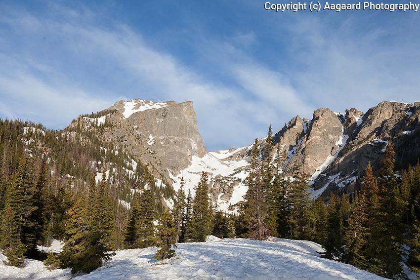 Hallett Peak from below Dream Lake, Rocky Mountain National Park