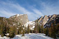 Hallett Peak from below Dream Lake, Rocky Mountain National Park