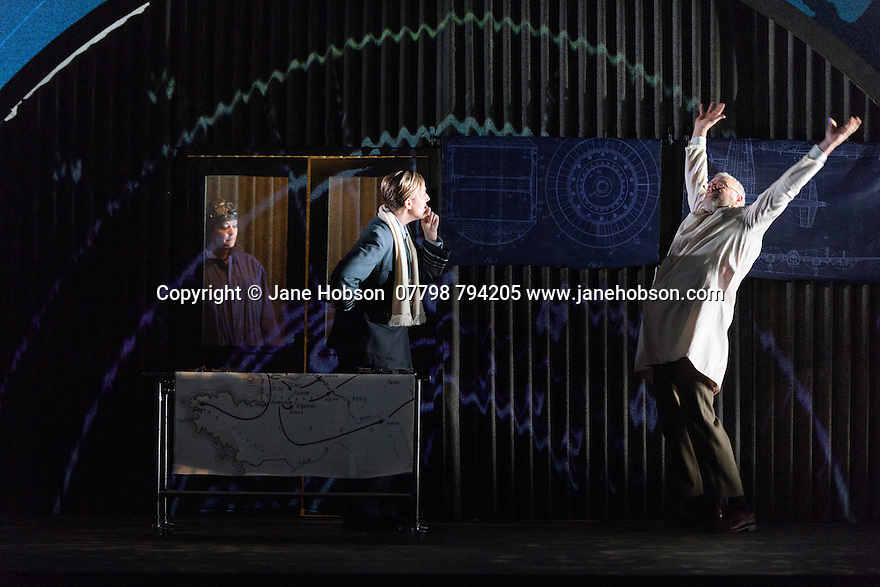 English Touring Opera presents XERXES, by George Frideric Handel, at the Hackney Empire, prior to setting off on a UK tour. Picture shows: Carolyn Dobbin (Armastris), Julia Riley (Xerxes), Andrew Slater (Ariodate)