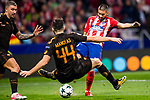Yannick Ferreira Carrasco of Atletico de Madrid runs with the ball during the UEFA Champions League 2017-18 match between Atletico de Madrid and AS Roma at Wanda Metropolitano on 22 November 2017 in Madrid, Spain. Photo by Diego Gonzalez / Power Sport Images
