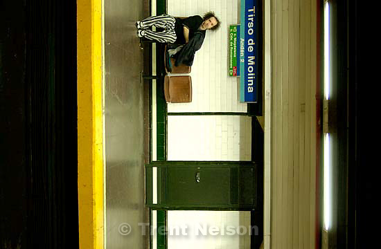 man in metro subway station<br />