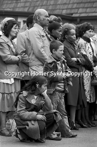 Blair Peach funeral and lying in state.  Southall west London 1979.<br />
