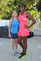 DELRAY BEACH, FL - NOVEMBER 03: Chris Evert and Lisa Leslie attend the Chris Evert/Raymond James Pro-Celebrity Tennis Classic at the Delray Beach Tennis Center on November 3, 2017 in Delray Beach Florida. Credit: mpi04/MediaPunch /NortePhoto.com