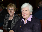 Claire Clarke and Mary Keating pictured at Collon senior citizens christmas party at Watters lounge. Photo:Colin Bell/pressphotos.ie