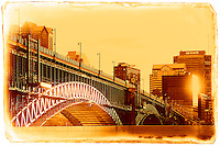 The Eads Bridge in St. Louis, Missouri