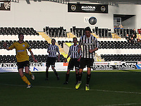 Kenny McLean gets to the ball to score in the St Mirren v Falkirk Clydesdale Bank Scottish Premier League Under 20 match played at St Mirren Park, Paisley on 30.4.13.