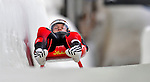 7 February 2009: Martin Abentung slides for Austria in the Men's Competition at the 41st FIL Luge World Championships, in Lake Placid, New York, USA. .  .Mandatory Photo Credit: Ed Wolfstein Photo