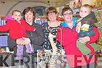 BUMP TO BABY: Pictured at the bump baby and toddler event at CH Chemist, Tralee, on Wednesday were l-r:Tara Foley, with baby Ava O'Connor (Dingle) Tedra Erickson (Chiropractor) and Frieda Moriarty with her son Adam (Tralee).