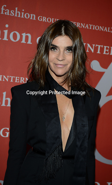 Carine Roitfeld attends the Fashion Group International's Night of Stars Gala on October 22, 2013 at Cipriani Wall Street in New York City.