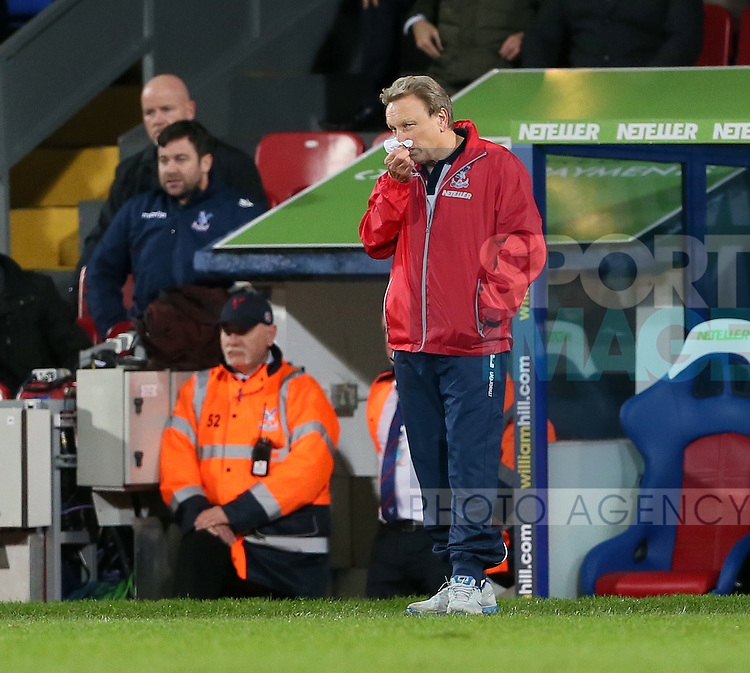 Crystal Palace's Neil Warnock looks on dejected<br /> <br /> - Barclays Premier League - Crystal Palace vs Sunderland- Selhurst Park - London - England - 3rd November 2014  - Picture David Klein/Sportimage