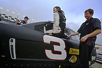Austin Dillon wit the #3 Chevy at NASCAR Sprint Cup Pre-Season Thunder testing, January 2014.  (Photo by Brian Cleary/ www.bcpix.com )