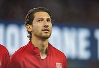 San Jose, Ca - Friday March 24, 2017: Omar Gonzalez during the USA Men's National Team defeat of Honduras 6-0 during their 2018 FIFA World Cup Qualifying Hexagonal match at Avaya Stadium.