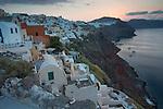 Santorini rural landscape, aegean island of mediterranean sea.