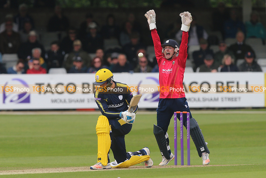 Adam Wheater of Essex with an appeal for the wicket of James Vince during Essex Eagles vs Hampshire, Royal London One-Day Cup Cricket at The Cloudfm County Ground on 30th April 2017