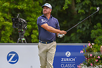 Graeme McDowell (NIR) watches his tee shot on 14 during Round 3 of the Zurich Classic of New Orl, TPC Louisiana, Avondale, Louisiana, USA. 4/28/2018.<br /> Picture: Golffile | Ken Murray<br /> <br /> <br /> All photo usage must carry mandatory copyright credit (&copy; Golffile | Ken Murray)