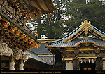 Yomeimon Gate to Honsha Central Shrine Shinyosha Shed for Sacred Spirit Palanquins Detail Nikko Toshogu Shrine Nikko Japan