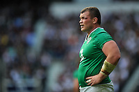 Jack McGrath of Ireland looks on during a break in play. QBE International match between England and Ireland on September 5, 2015 at Twickenham Stadium in London, England. Photo by: Patrick Khachfe / Onside Images