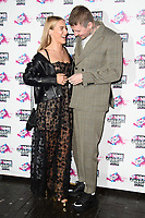 Faye Williams &amp; Professor Green at the VO5 NME Awards 2018 at the Brixton Academy, London, UK. <br /> 14 February  2018<br /> Picture: Steve Vas/Featureflash/SilverHub 0208 004 5359 sales@silverhubmedia.com