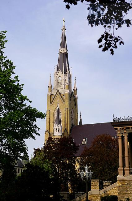 Photo by Matt Cashore..Basilica Steeple
