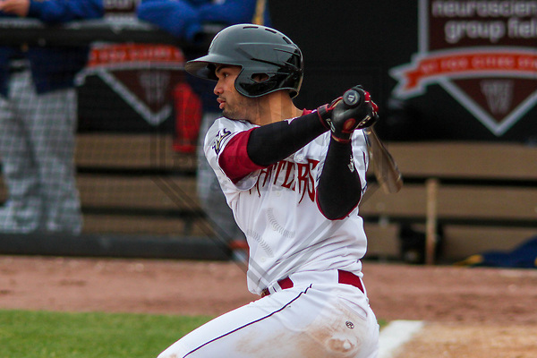 Wisconsin Timber Rattlers catcher Mario Feliciano (4) during a Midwest League game against the Burlington Bees on April 11th, 2017 at Fox Cities Stadium in Appleton, Wisconsin.  Wisconsin defeated Burlington 4-3. (Brad Krause/Krause Sports Photography)