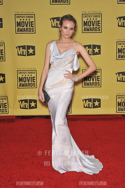 Diane Kruger at the 15th Annual Critics' Choice Movie Awards, presented by the Broadcast Film Critics Association, at the Hollywood Palladium..January 15, 2010  Los Angeles, CA.Picture: Paul Smith / Featureflash